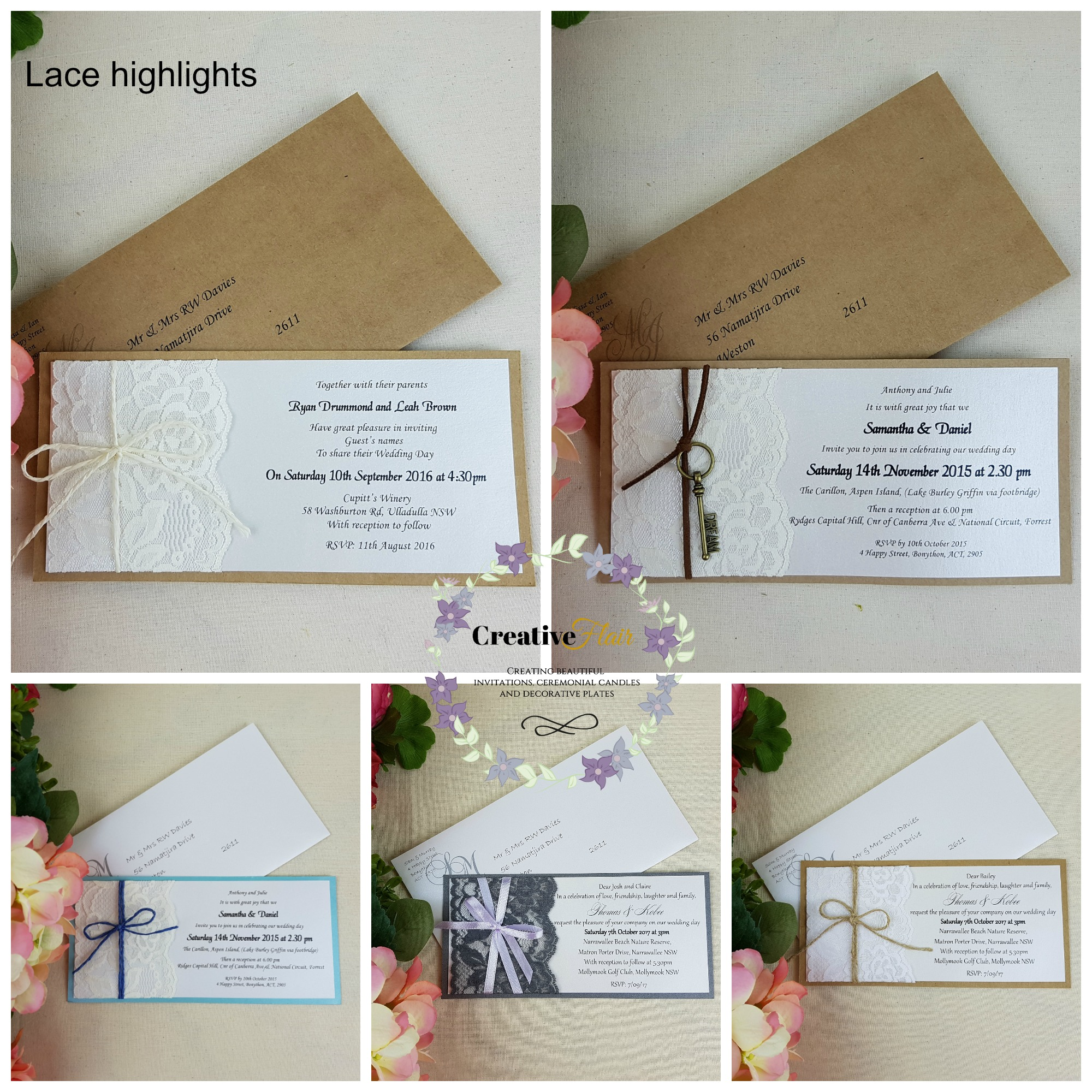 Creative Flair Wedding Invitations Stationery 4 Western Hill