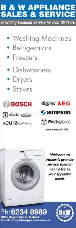 B & W Appliance Sales & Service - Electrical Appliances