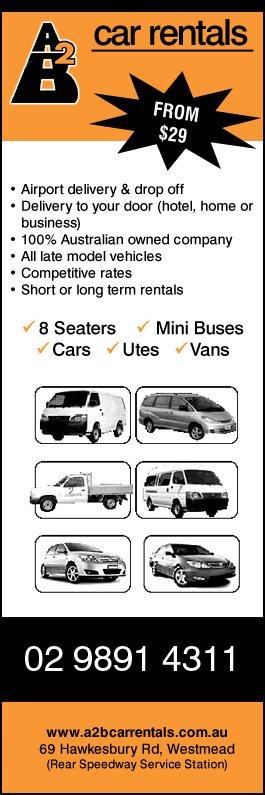 A2B Car Rentals - Car Rental & Hire - 69 Hawkesbury Rd - Westmead