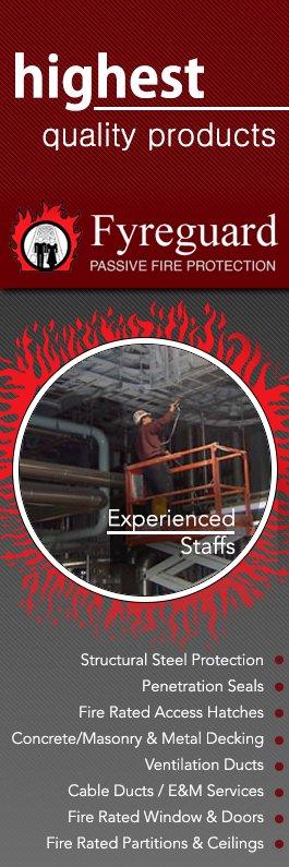 Fyreguard passive fire protection resistant