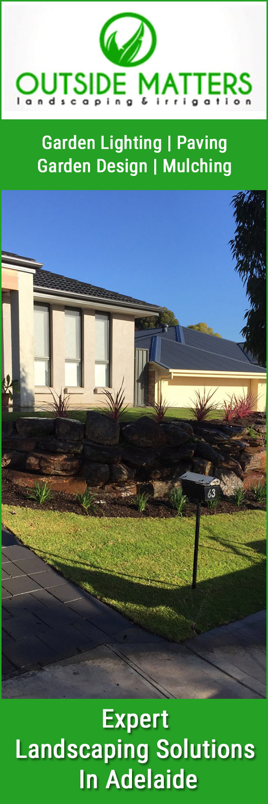 Outside matters landscaping irrigation adelaide for Landscape architect adelaide