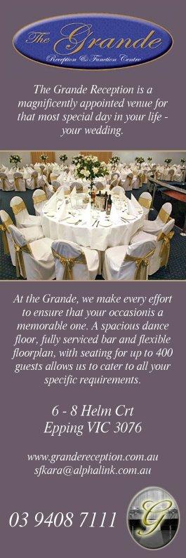 Grande Reception Function Centre Wedding Venues 6 8 Helm Ct