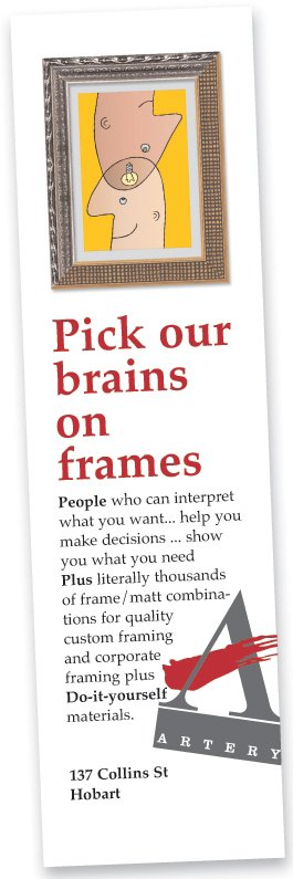 Artery photo frames picture framing 137 141 collins st hobart artery promotion solutioingenieria Gallery