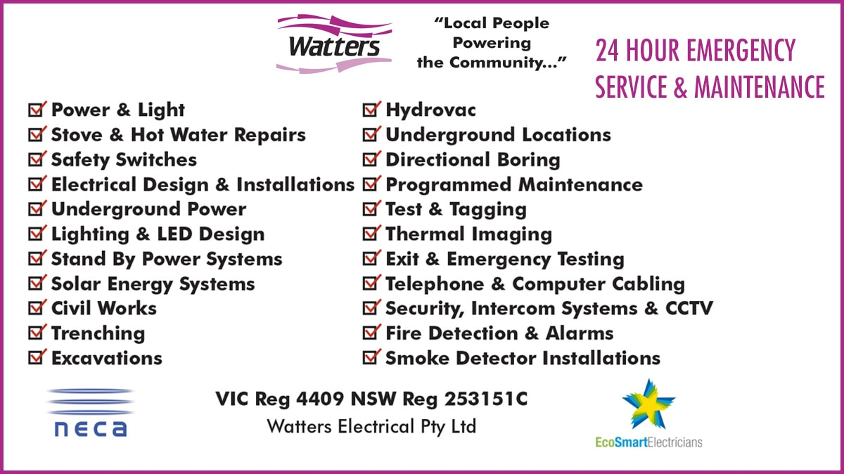 Watters Electrical Pty Ltd Security Systems Wangaratta Home Fuse Box 1957