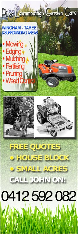 Pines Lawnmowing . Garden Care - Lawn Mowing Services - Wingham
