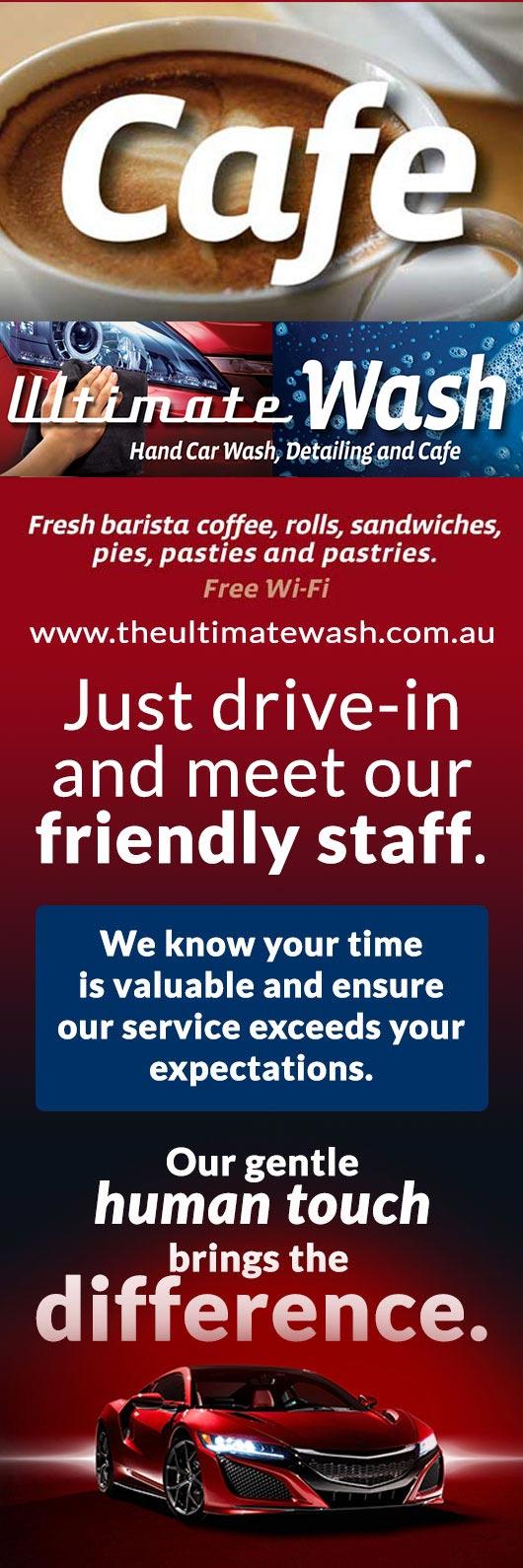 Ultimate wash cafe promotion