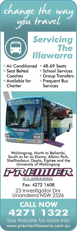 Premier Illawarra Scheduled Coach Bus Services 1323
