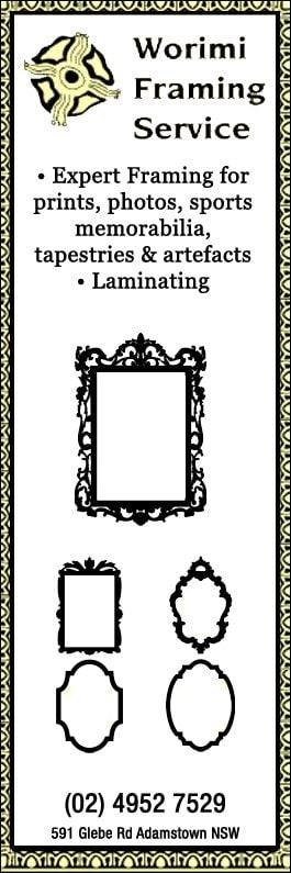 Worimi Framing Service - Photo Frames & Picture Framing - 591 Glebe ...