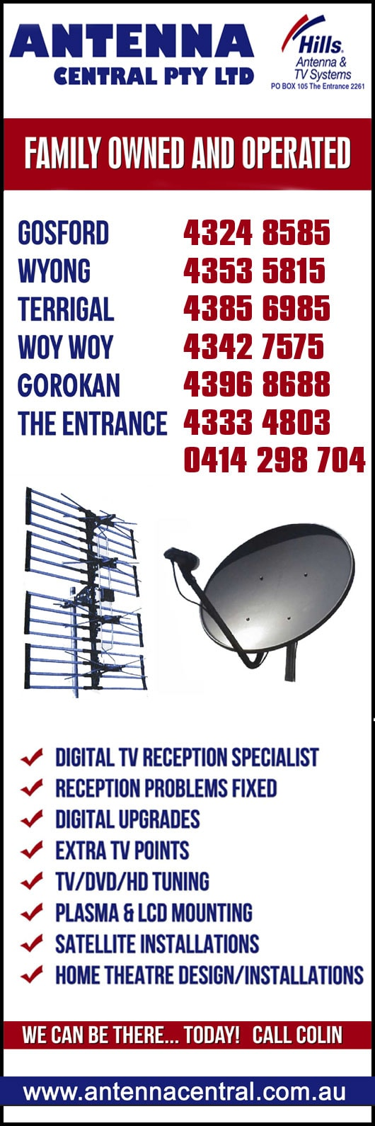 Antenna Central Pty Ltd - TV Antenna Services - The Entrance