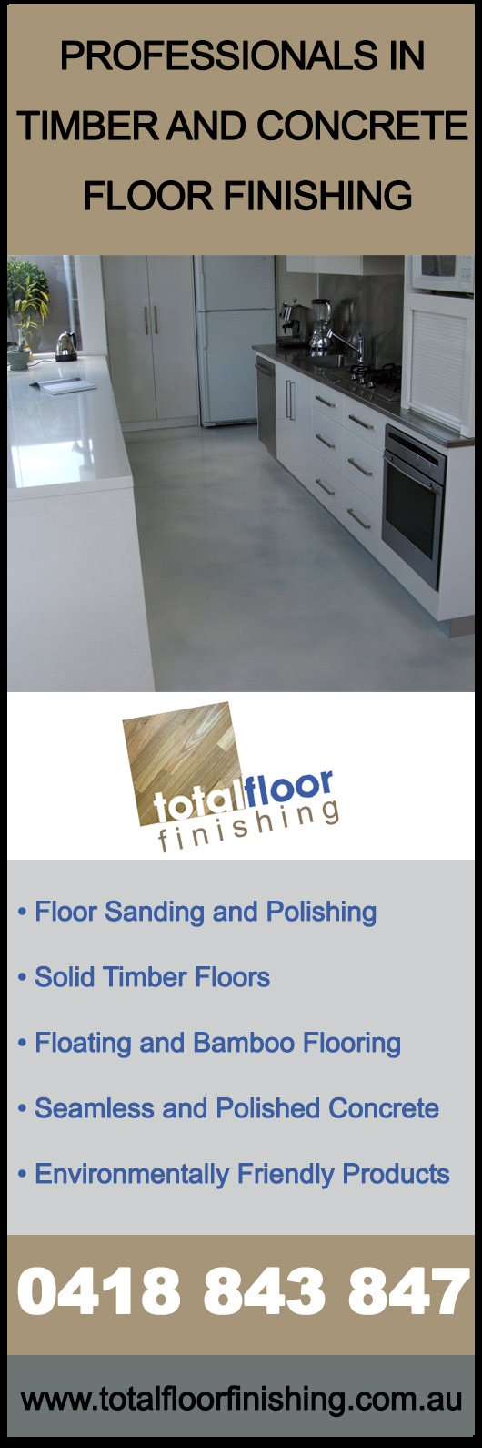 Exceptional Total Floor Finishing   Promotion