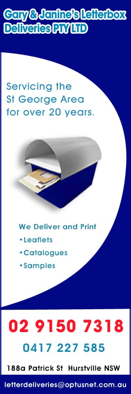 Gary janines letterbox deliveries pty ltd advertising gary janines letterbox deliveries pty ltd promotion reheart Gallery