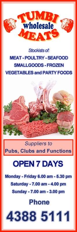 Tumbi Wholesale Meats - Butchers Shop - 2/ 11 Tumbi Creek Rd - Tumbi