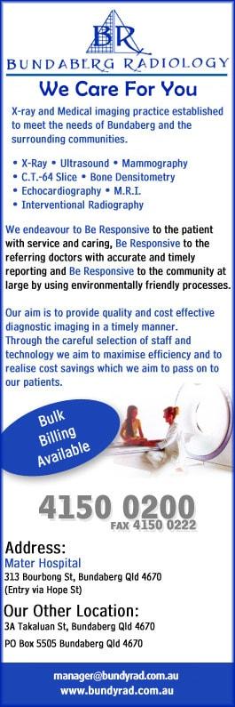 Bundaberg Radiology - Diagnostic Radiology - Mater Hospital