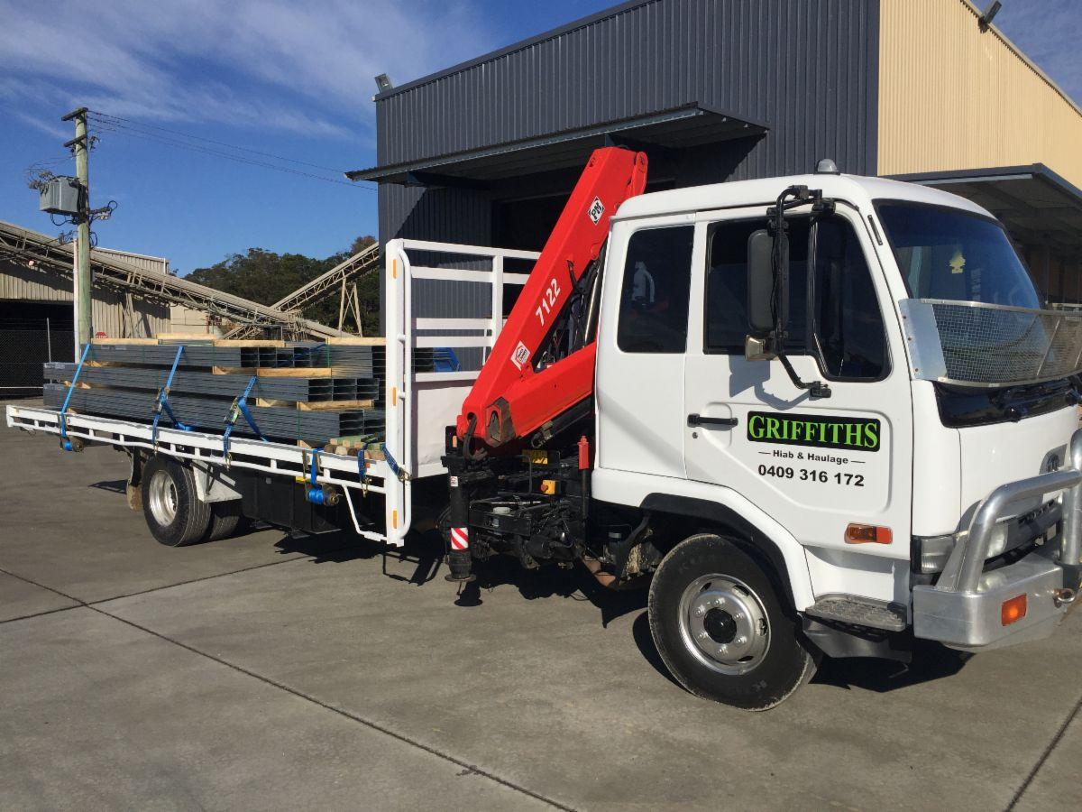 Light Equipment Transport : Griffiths hiab haulage transport light camden