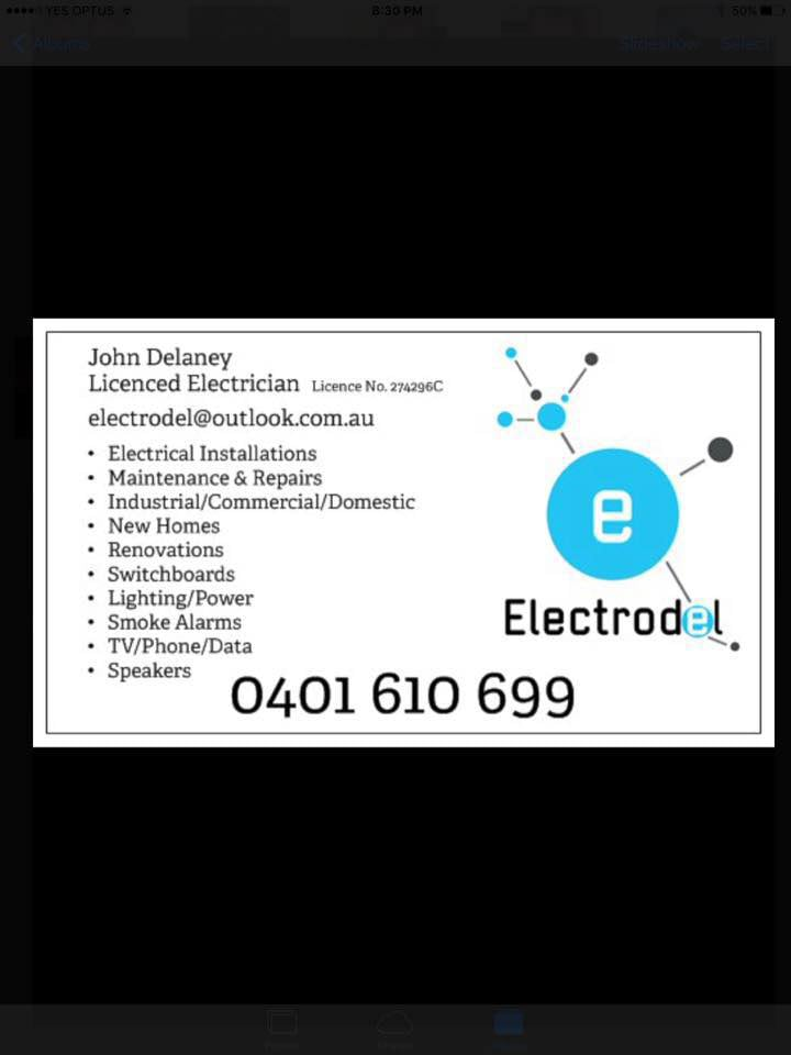 Electrodel electricians electrical contractors goulburn business card pdf pdf reheart Gallery