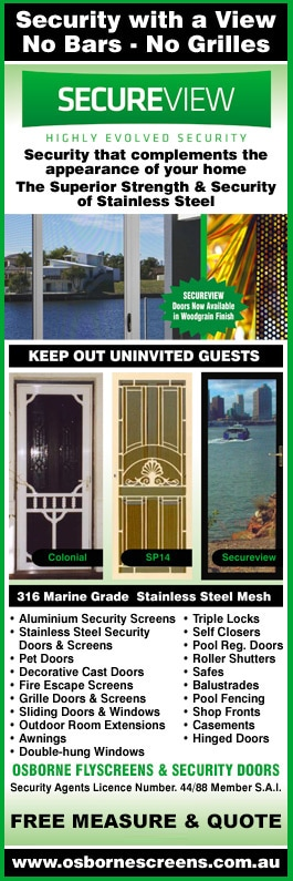 Osborne Flyscreens u0026 Security Doors - Promotion  sc 1 st  Yellow Pages & Osborne Flyscreens u0026 Security Doors - Fly Screens - BAYSWATER pezcame.com