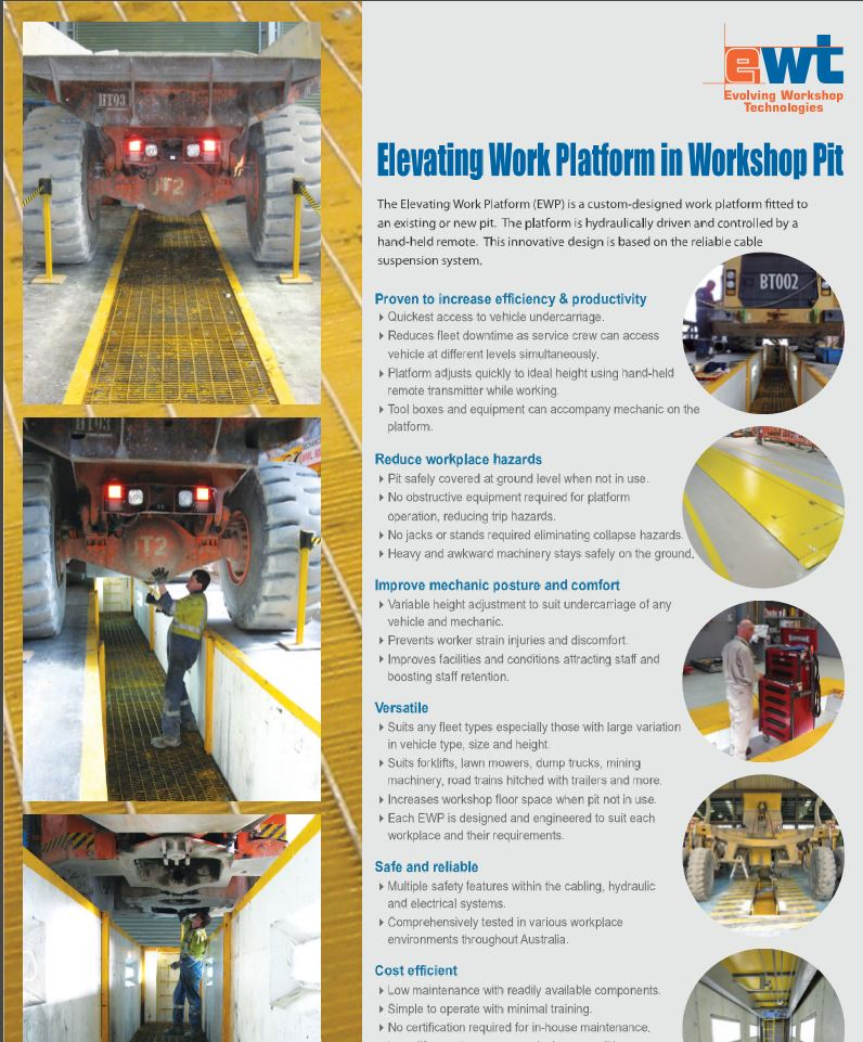 Evolving Workshop Technologies - Motor Garage Equipment