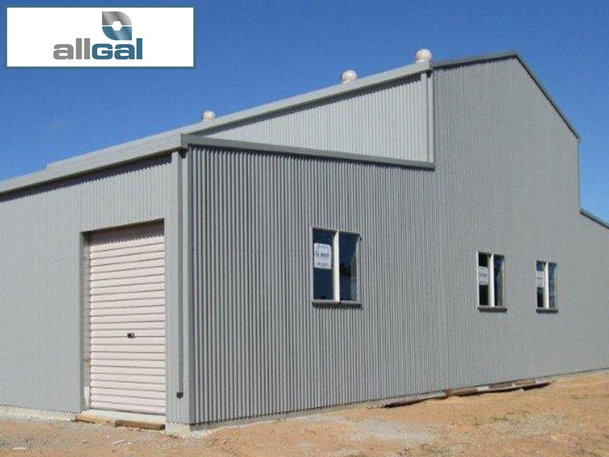 allgal residential rural steel frame buildings garage