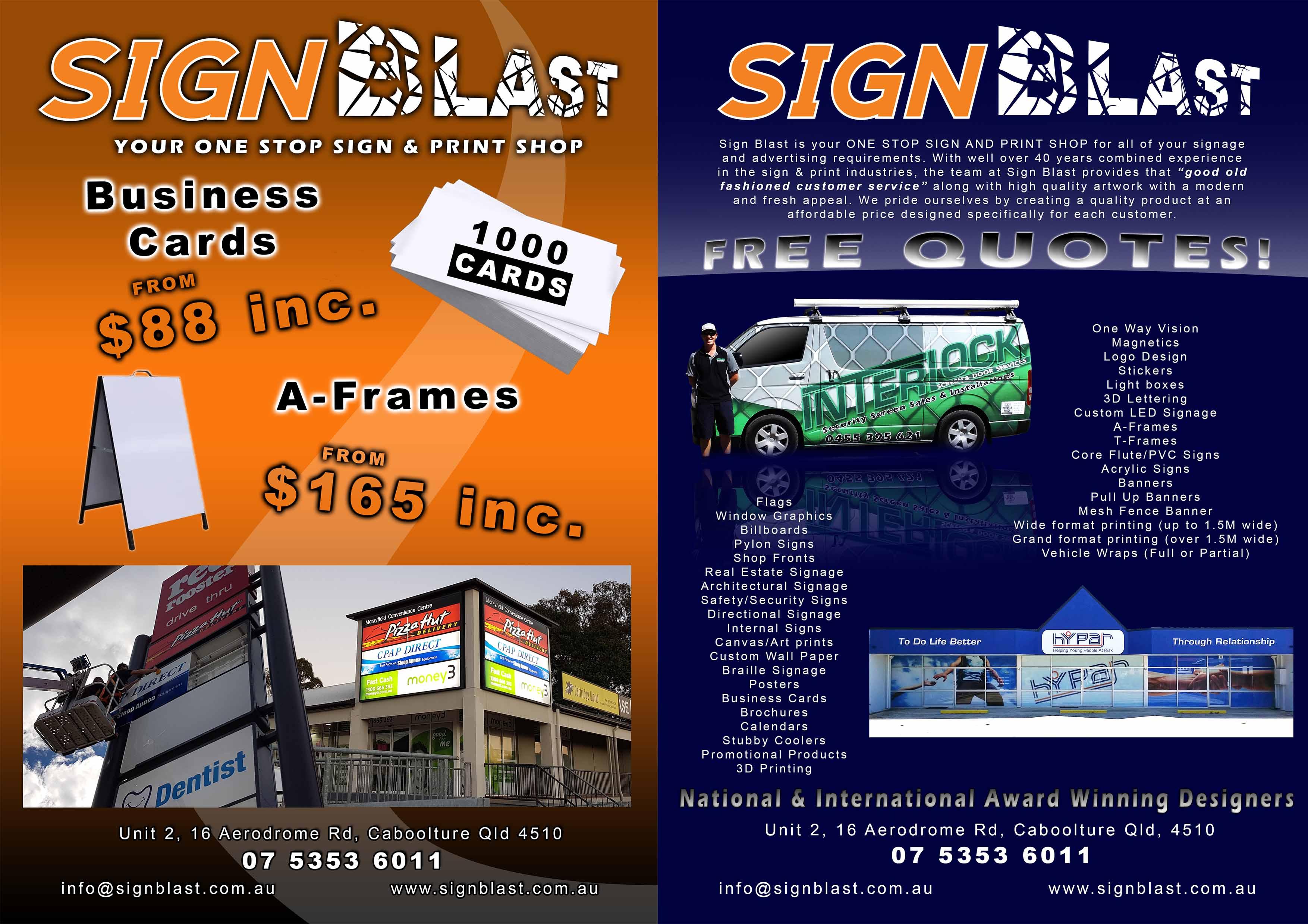 sign blast signwriters brisbane
