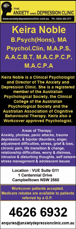 Anxiety & Depression Clinic - Psychologist - Vue Suite G 11