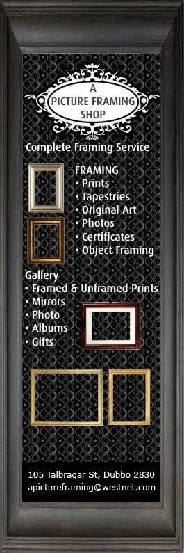 A Picture Framing Shop - Art Supplies - 105 Talbragar St - Dubbo