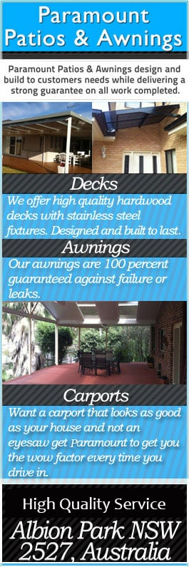 Paramount Patios Awnings Pty Ltd