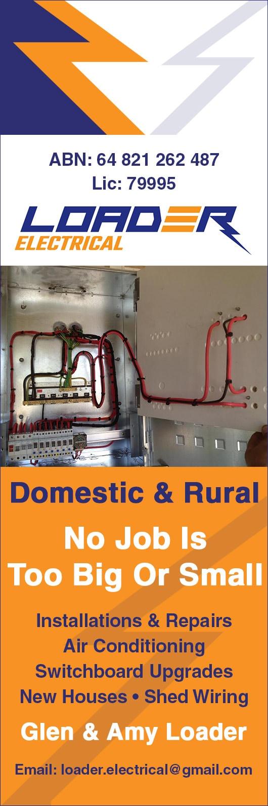 Loader electrical promotion