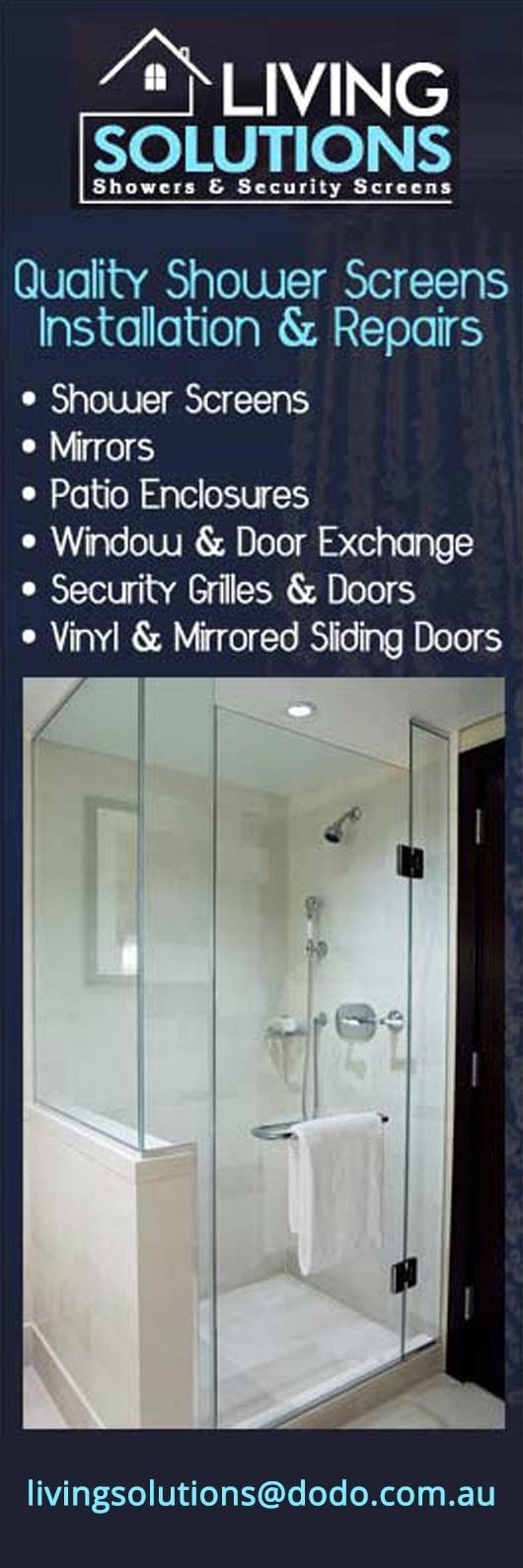 Living Solutions Shower & Security Screens - Security Doors, Windows ...