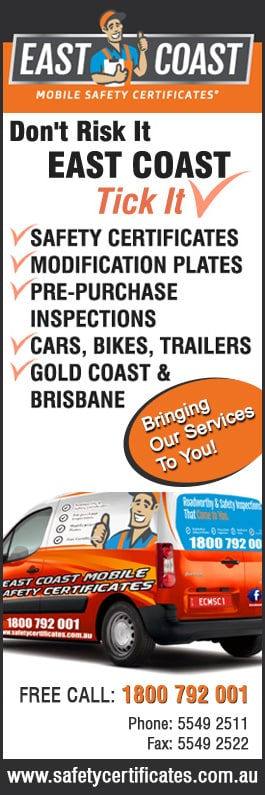 East Coast Mobile Safety Certificates - Vehicle Inspections - Ormeau