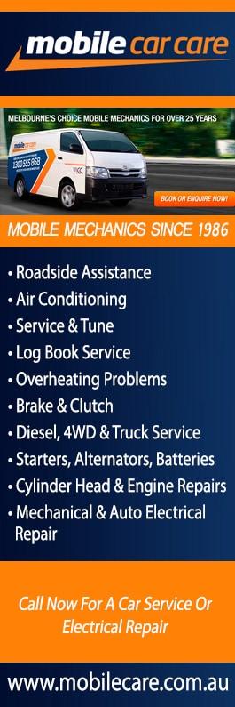 Mobile Car Care - Mobile Mechanics & Auto Electricians