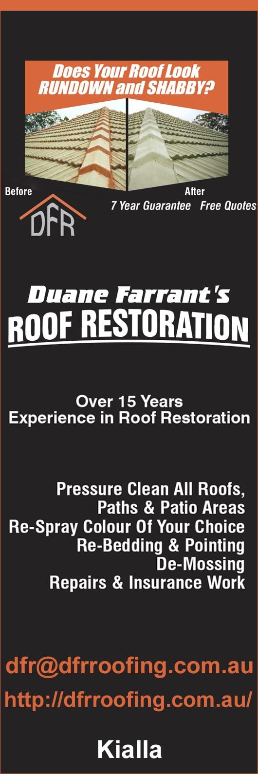 Duane Farrantu0027s Roof Restoration   Promotion
