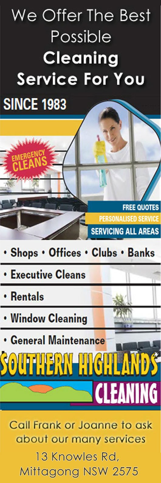 Cleaning Quotes Southern Highlands Cleaning  Commercial & Industrial Cleaning