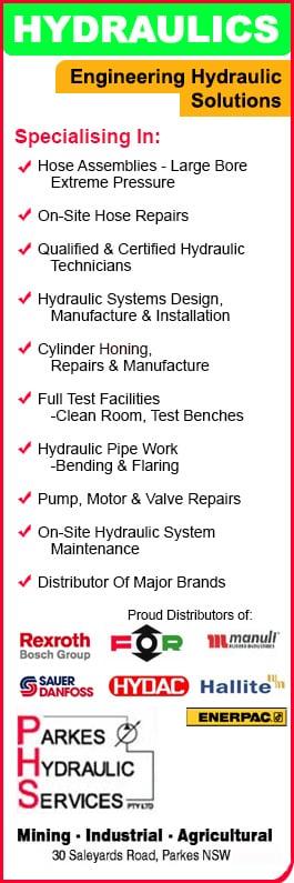Parkes Hydraulic Services Pty Ltd - Hydraulic Equipment & Supplies