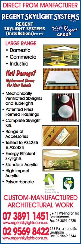 Regent Skylight Systems Pty Ltd - Skylights - MACKAY