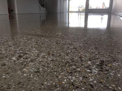 White diamond polished concrete concrete resurfacing for Polished concrete floors nz