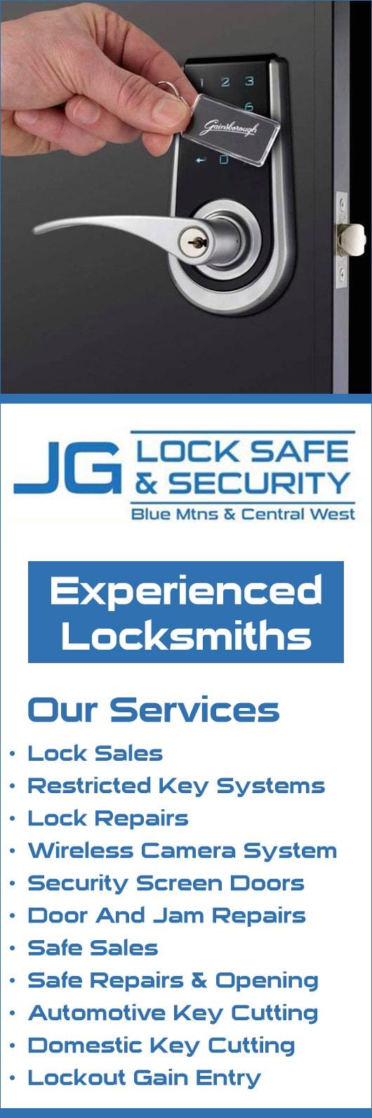 JG Lock Safe & Security - Locksmiths & Locksmith Services