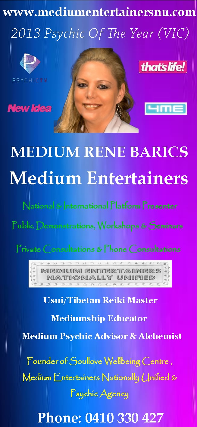 Rene Barics - Soul Love Wellbeing Centre - Psychic & Clairvoyant