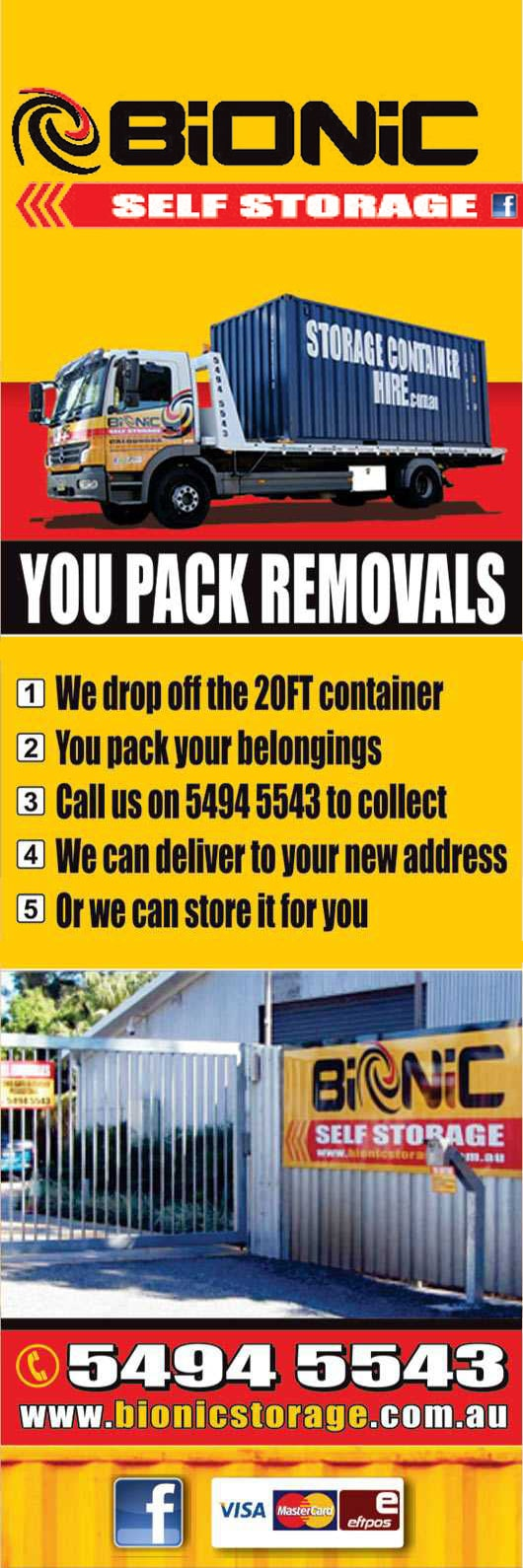 Bionic Self Storage - Storage Container Hire - Promotion  sc 1 st  Yellow Pages & Bionic Self Storage - Storage Container Hire - Furniture Removalists ...