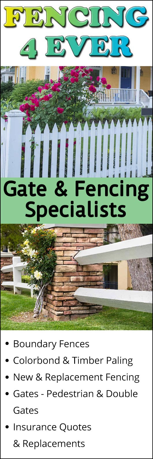 Fence Quotes Fencing 4 Ever  Fencing Contractors  Hoppers Crossing