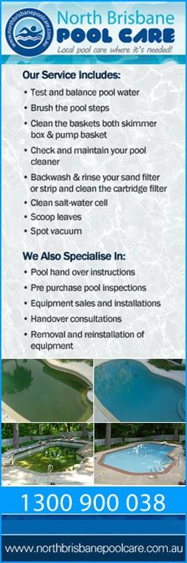 North Brisbane Pool Care Swimming Pool Maintenance Repairs