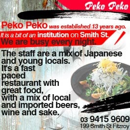 Peko Peko Restaurants Smith St Fitzroy - Cuisines smith