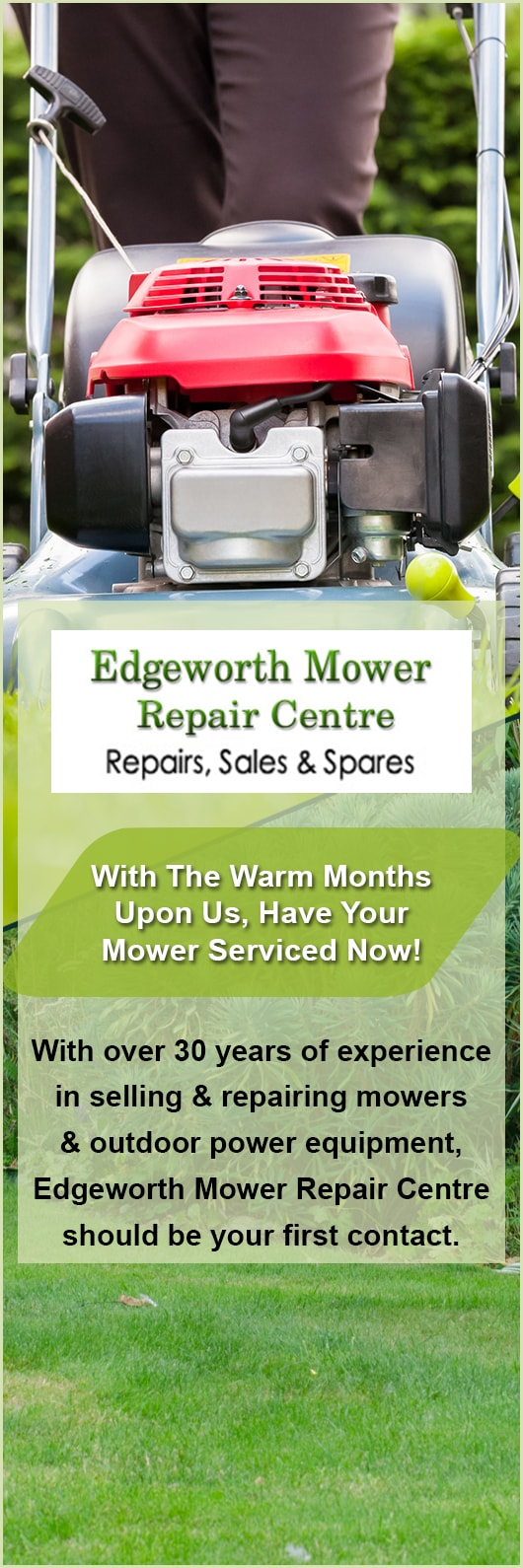 Edgeworth Mower Repair Centre Lawn Mower Shops Amp Repairs