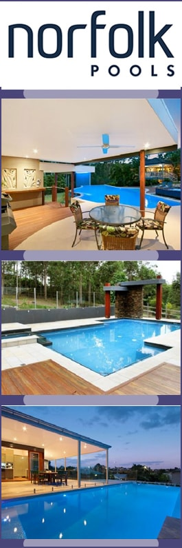 Norfolk pools swimming pool designs construction redland bay Public swimming pools norfolk