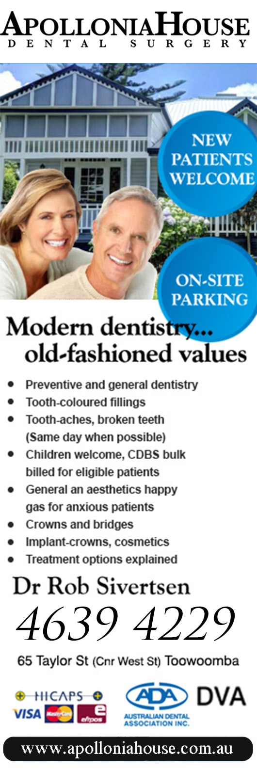 Apollonia House Dental - Dentist - 65 Taylor St Cnr West St - Toowoomba