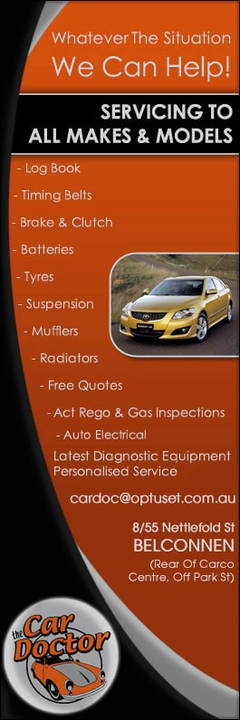 The Car Doctor Tyres Carco Cntr 8 55 Nettlefold St Belconnen