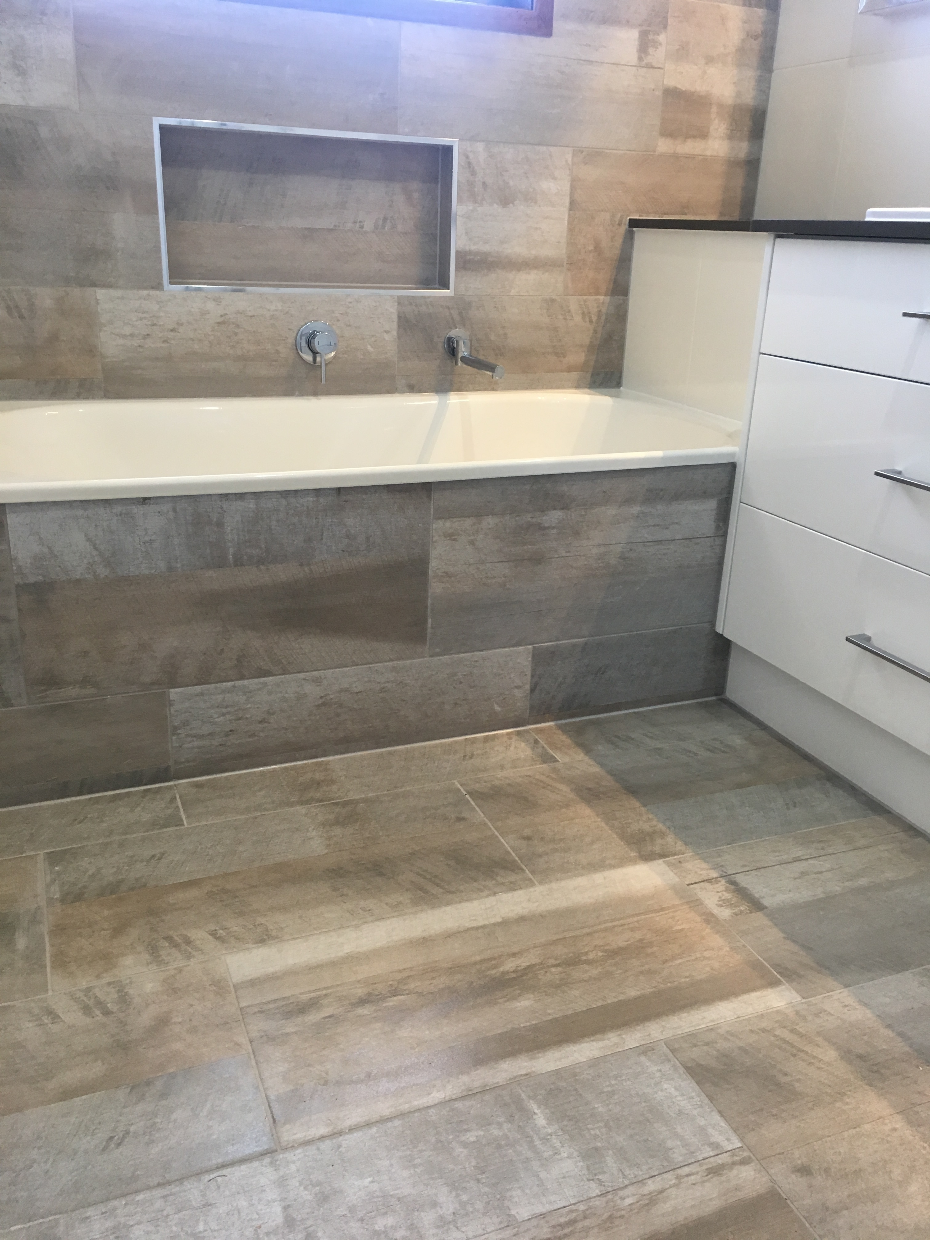 Toowoomba bathroom renovations - Double Vanities Catered Too With Fitting Fixtures Of Your Choice