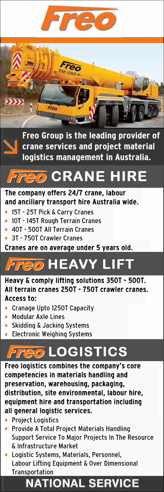 Freo Group Pty Ltd - Crane Hire - Perth