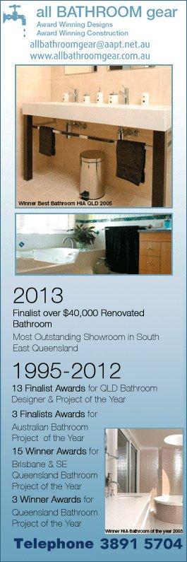 Bathroom Designs Qld all bathroom gear pty ltd - bathroom renovations & designs - 46