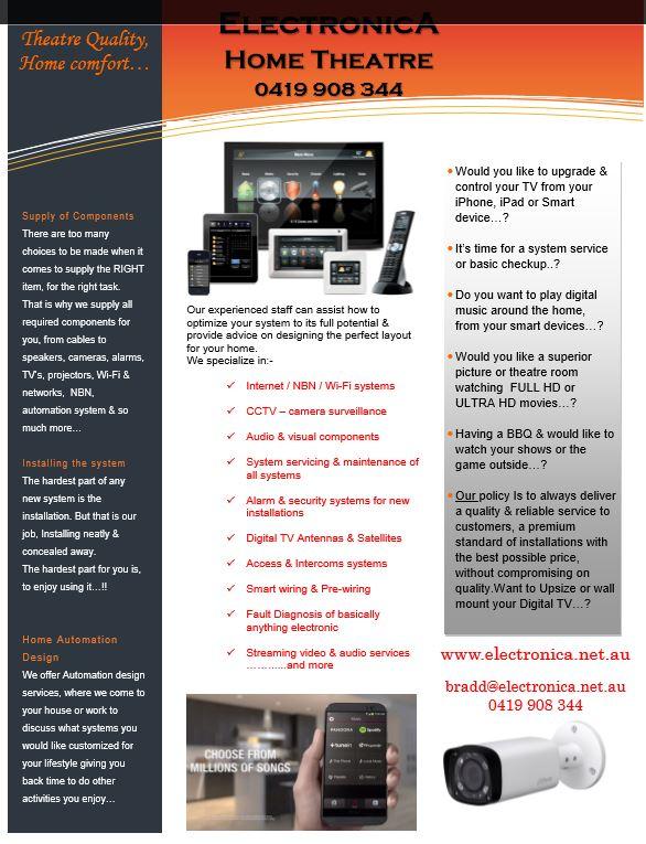 ElectronicA Automation - Home Cinema & Theatre - Perth
