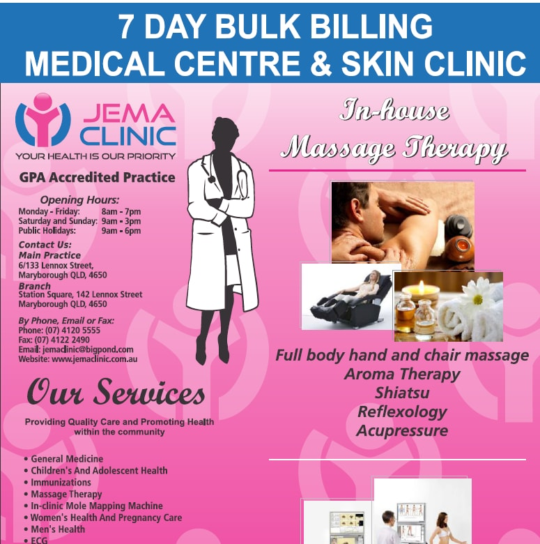 Jema Clinic - Medical Centres - 6/ 133 Lennox St - Maryborough